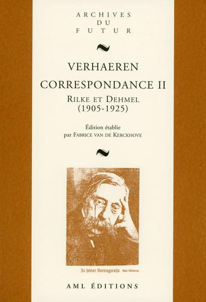 Verhaeren correspondance Rilke et Dehmel