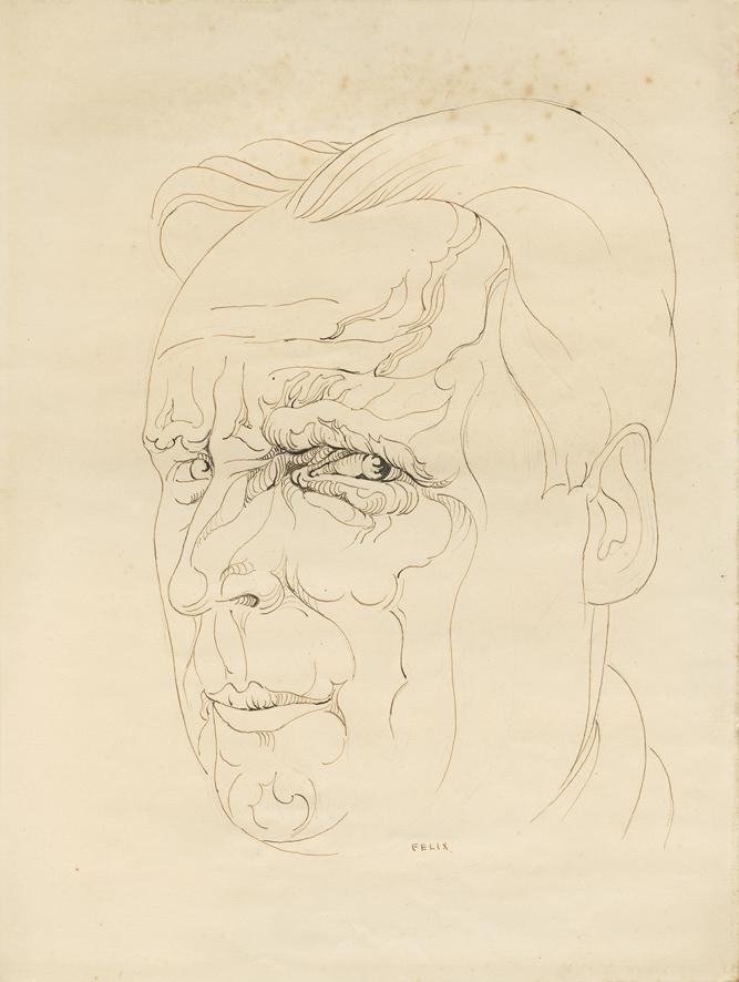 Portrait de Charles Plisnier par Félix De Boeck - repro Alice Piemme/AML