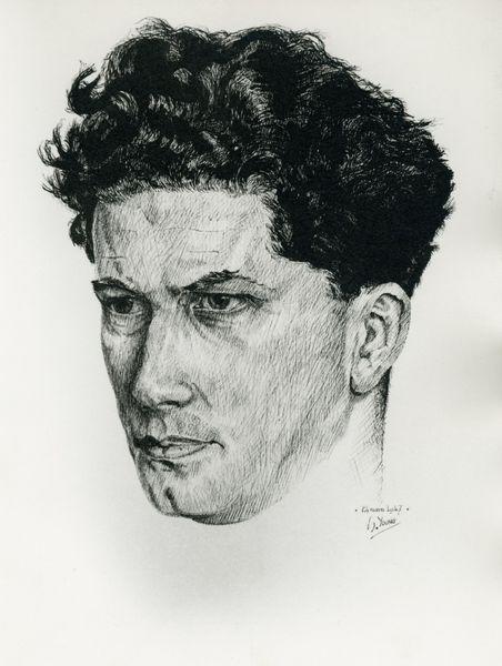 Charles Bertin, © dessin de Serge Young - doc. AML